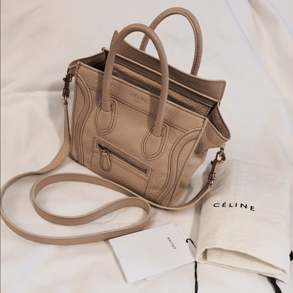 ee1a48be7a5e Celine Handbags - ⚡️SALE⚡️Celine nano leather bag Crossbody beige