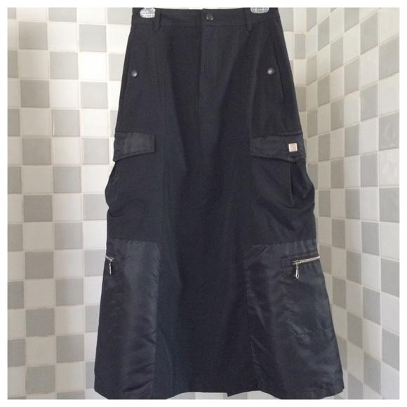 03140720b2a Vtg Marithe Francois Girbaud Military Maxi Skirt. M_56cb8be5522b451d6400a7c6