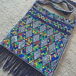 Handbags - 🗿 Beaded Boho Fringe Bag