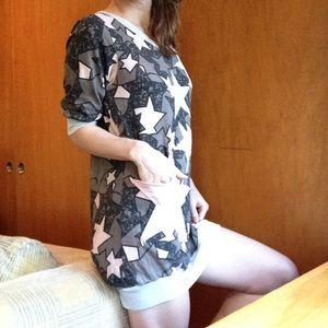 Vintage Tops - ⬇️ $48 Star Pocket Tunic Patchwork Dress 80's