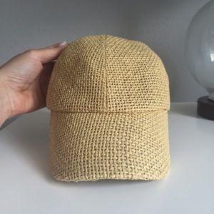 J. Crew Accessories - J Crew woven baseball hat 03d01af9d406