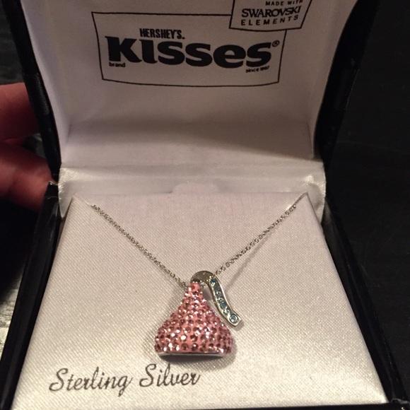 90 off swarovski jewelry swarovski hershey kisses necklace from swarovski hershey kisses necklace mozeypictures Choice Image