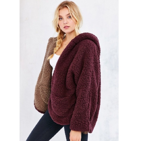 58% off Urban Outfitters Jackets u0026 Blazers - Ecote Fuzzy Reversible Jacket from Mandyu0026#39;s closet ...