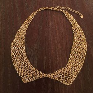 Gold Chainlink Collar Necklace
