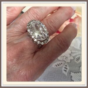 Personality Jewelry - Silver plate CZ Ring.      NWOT