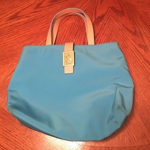 Turquoise and tan Ralph Lauren purse