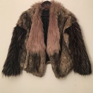 Brown tone Faux Fur