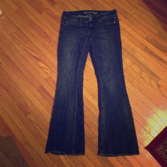 American eagle artist denim dark wash jeans sz 8