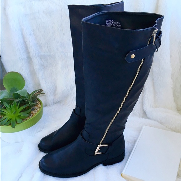 NWT 🎉 Black Tall Zipper Boots a1886266e2