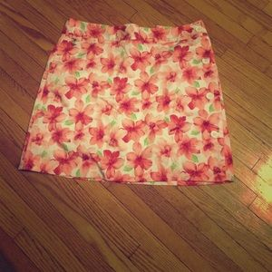 Tropical Floral skort Liz Claiborne size 8 EUC