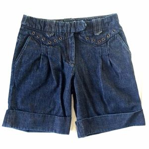 Maje Dark Wash Denim Shorts