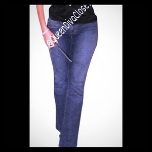 Dereon Denim - Beyonce Medium wash low rise boot cut denim jeans