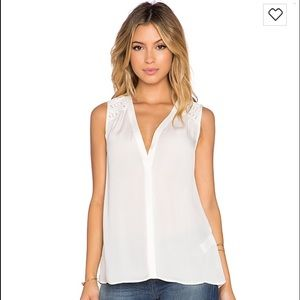 NWT Joie Doria Tank in Porcelain Small