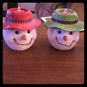 Other - Snowmen Candle Holders