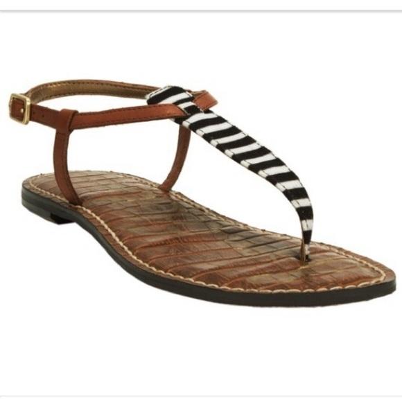 8341e617b2af52 Sam Edelman Black   White Striped  Gigi  sandal. M 56cbb7d8620ff78b0600eb76