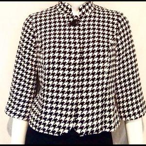 Style & Co Jackets & Blazers - Style.& Co Petite Black & White Jacket