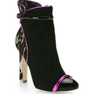 sophia webster  Shoes - Sophia Webster Laney Aztec Suede Calf Ankle Boots