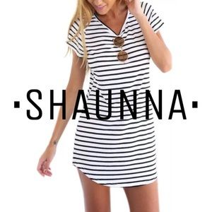 Dresses & Skirts - • Reserved • Casual Scoop Neck Striped Mini Dress