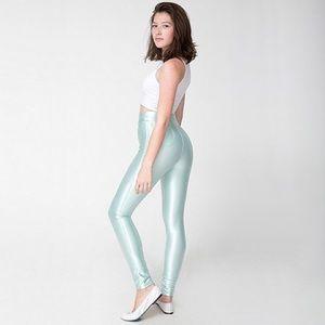 American Apparel Pants - American Apparel Mint Menthe Disco Pants XXS