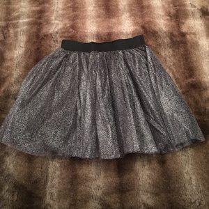 Aqua Metallic Tulle Skirt