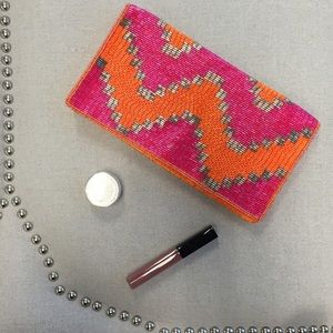 Forever 21 Handbags - Forever 21 Colorful Beaded Clutch
