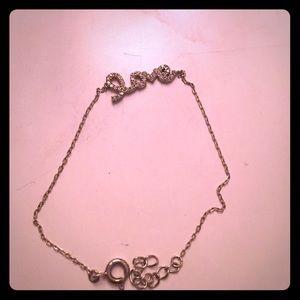 Scripted love bracelet in silver