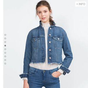Zara frayed denim jacket