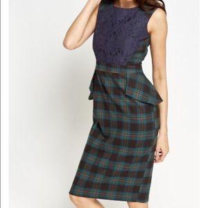 Tartan Lace Dress