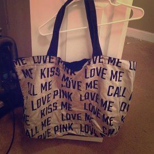 Victoria Secret distressed beach bag.