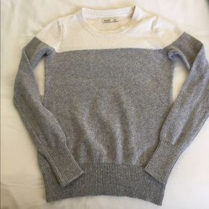 Grey and light cream/white color block sweater!
