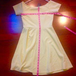 1fd205faa7 Forever 21 Dresses - NEW lemon pastel yellow mini skater dress