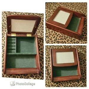Other - Mens wooden jewelry box