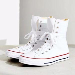 c67da72d6cffe8 Converse Shoes - Extra high top white converse 9 NEW