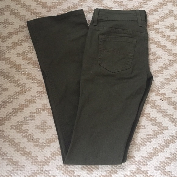 Flare Olive Jeans Green Forever 21 w4UqKXFX