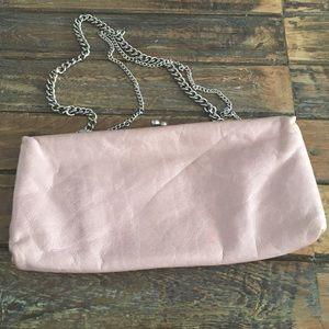 HOBO Handbags - Hobo International Soft Pink Leather Chain Clutch