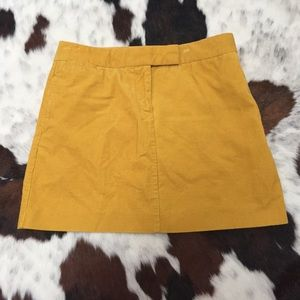 J Crew corduroy mini skirt