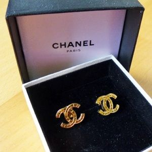 CHANEL Vintage CC Logos Earrings Clip-On