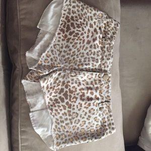 Pencey Pants - Pencey leopard print cut off shorts