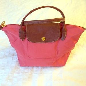 Pink Le Pliage Longchamp bag (small)