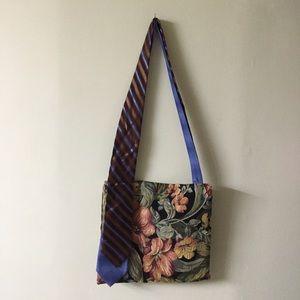 Vintage handmade crossbody handbag