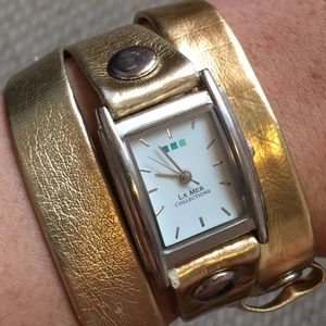 Women's La Mer gold wrap watch