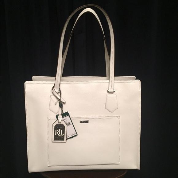 ce6e2570631c HOST PICK NWT Ralph Lauren White Leather Bag 💗