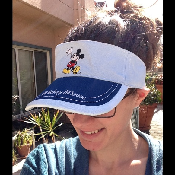 Disney Accessories - Disney Mickey Mouse Sky Blue Sun Visor Beach Hat 13afefcb15a