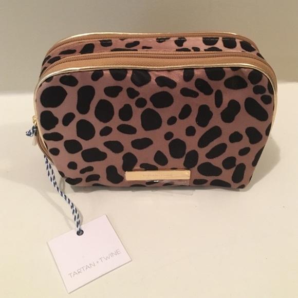 41f799399a Tartan + Twine leopard cosmetic bag. M 56ccb609f0137db2fa08f367