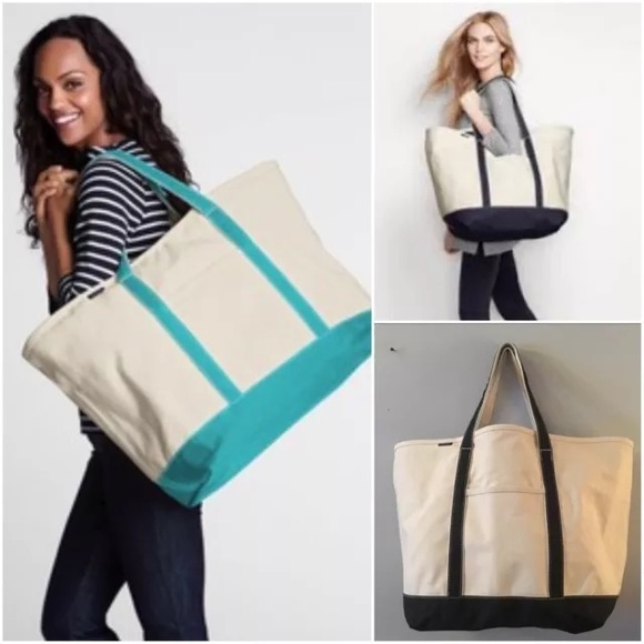 44% off Lands' End Handbags - Lands End XL weekender tote canvas ...
