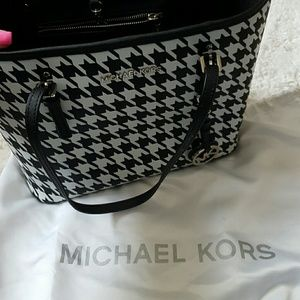 MK hounds tooth purse