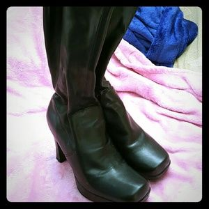 BP Nordstrom knee high black leather boots