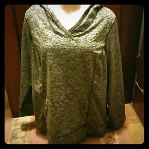 Avenue Tops - Silver Colored Hoodie