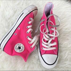 20f599e418d Converse Shoes - CONVERSE HI TOP HOT PINK SZ 6 WOMENS SHOES