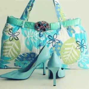 Nine West Shoes - Baby Blue Shoes Heels by Nine West size 7.5